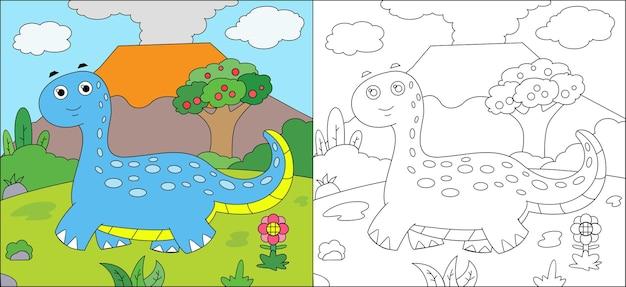 Livro de colorir dinossauro