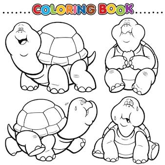 Livro de colorir dos desenhos animados - tartaruga