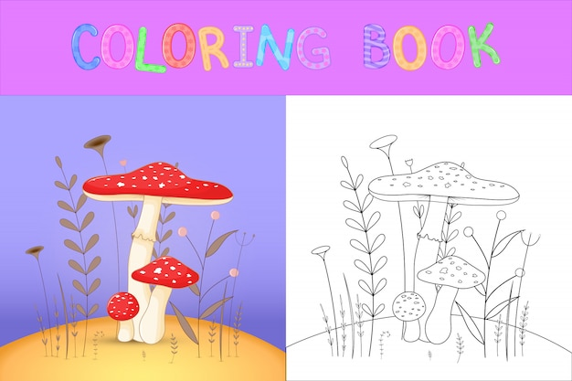 Livro de colorir infantil com animais dos desenhos animados.