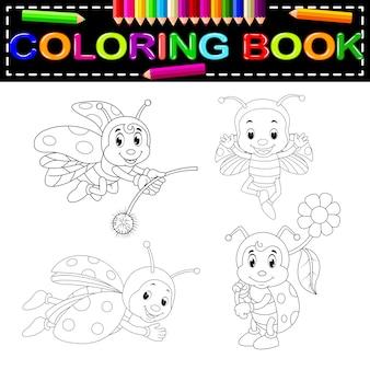 Livro de colorir inseto