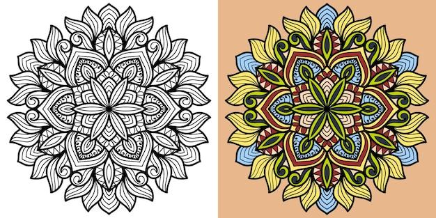Livro de colorir mandala decorativa para adultos e crianças