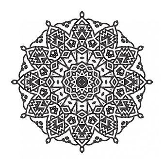Livro de colorir mandalas com estilo de ornamento