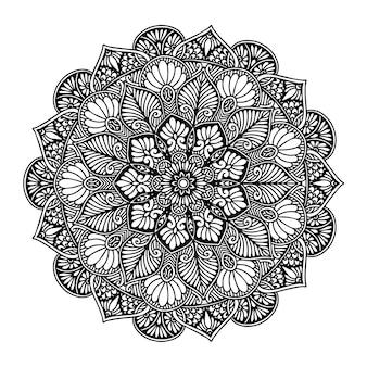 Livro de colorir mandalas, terapia oriental, ioga