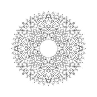 Livro de colorir padrão de mandala