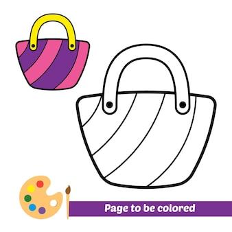 Livro de colorir para crianças bolsa vetor