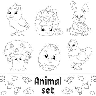 Livro de colorir para crianças clipart de páscoa