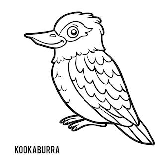 Livro de colorir para crianças, kookaburra