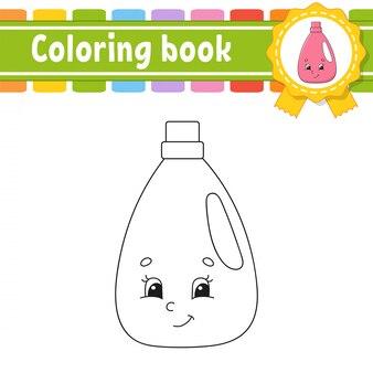 Livro de colorir para crianças. personagem alegre ilustração vetorial estilo bonito dos desenhos animados. página de fantasia para crianças.
