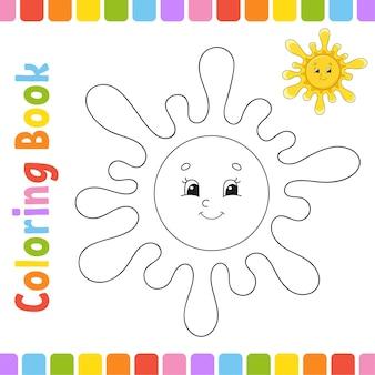 Livro de colorir para crianças personagem alegre