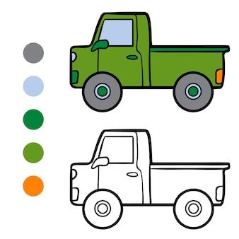 Livro de colorir para crianças, pickup