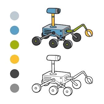 Livro de colorir para crianças, rover