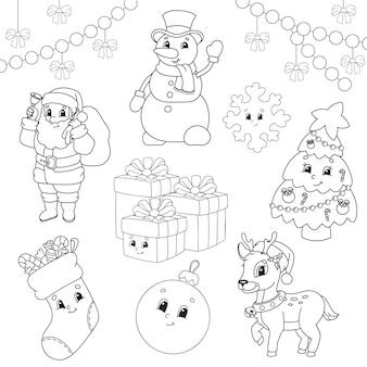 Livro de colorir para crianças tema de natal