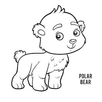 Livro de colorir para crianças, urso polar