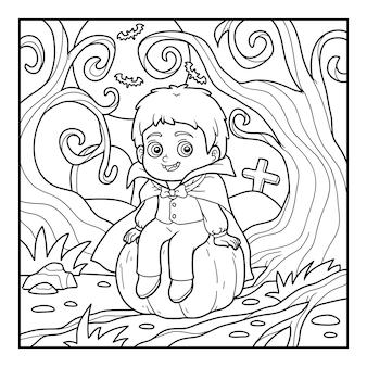 Livro de colorir para crianças, vampiro