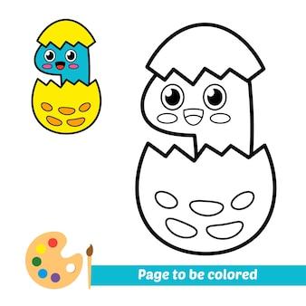 Livro de colorir para crianças vetor de dinossauro fofo