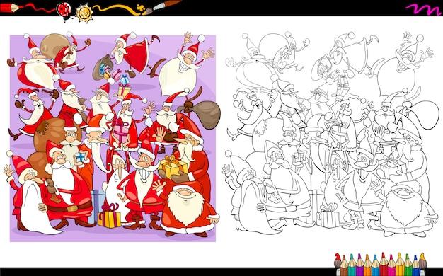 Livro de colorir personagens de santa