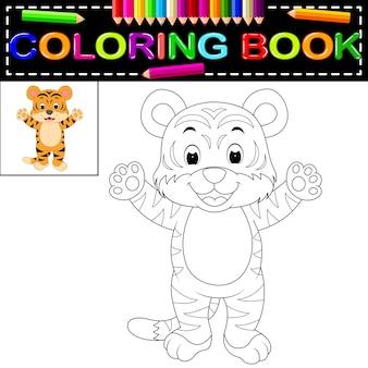Livro de colorir tigre