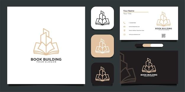 Livro de construção de design de logotipo e cartão de visita de inspiração