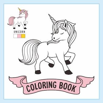 Livro de desenhos de unicórnio para colorir para crianças