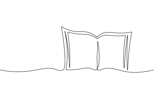Livro de educação de arte em linha única contínua. apps de aprendizagem pós-graduação academia de mestrado online. desenha um esboço de esboço de traço desenhando a arte de ilustração vetorial.