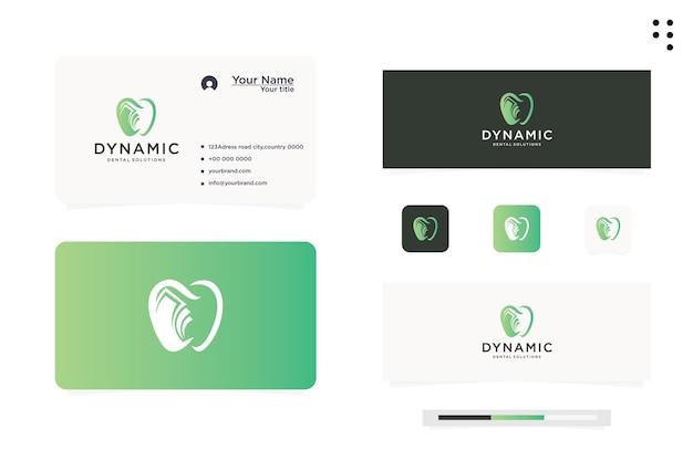Livro de educação odontológica de design de logotipo
