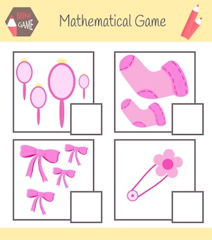 Livro de exercícios de matemática. aprenda a contar. resolva exemplos.