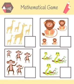 Livro de exercícios de matemática para educação pré-escolar