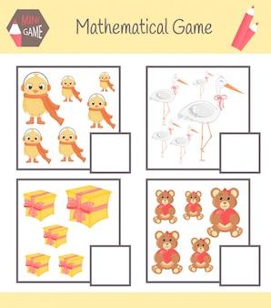 Livro de exercícios sobre matemática para educação pré-escolar.