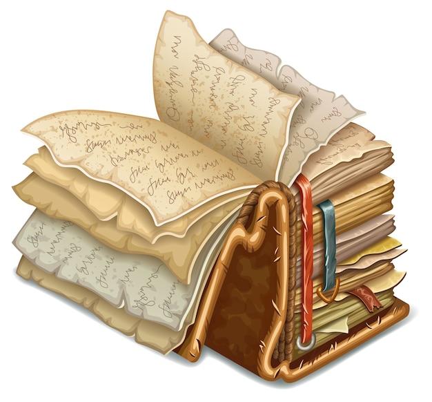 Livro de feitiços e feitiçaria.