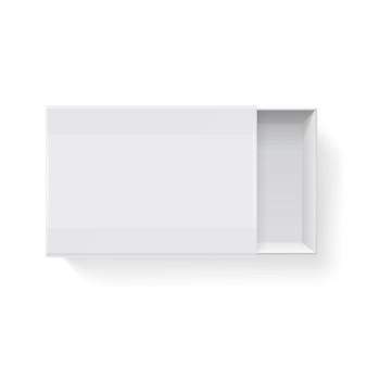 Livro de jogo de empacotamento vazio vazio do livro branco isolado na ilustração branca. recipiente de maquete