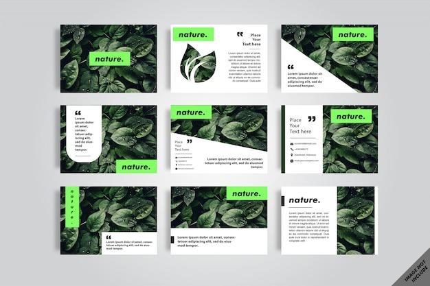 Livro de layout de folha de natureza