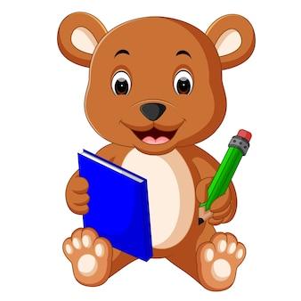 Livro de leitura bonito do urso
