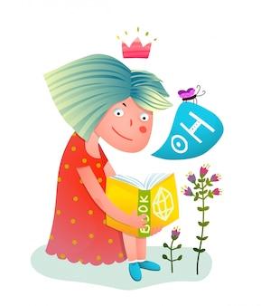Livro de leitura princesa menina