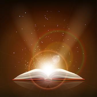 Livro de magia aberto