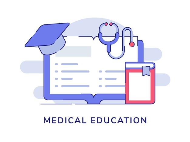 Livro de página aberta do conceito de educação médica