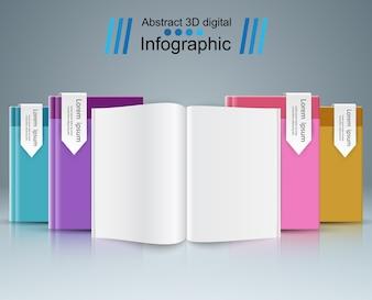 Livro de papel - infográfico de negócios.