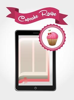 Livro de receita de cupcake