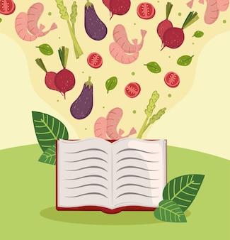 Livro de receitas de comida saudável