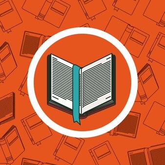 Livro dentro do botão