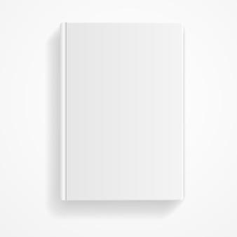 Livro em branco isolado no fundo branco. modelo vazio.
