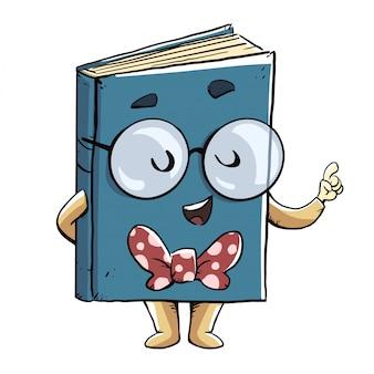 Livro falando e dando uma lição