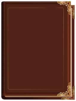 Livro fechado marrom