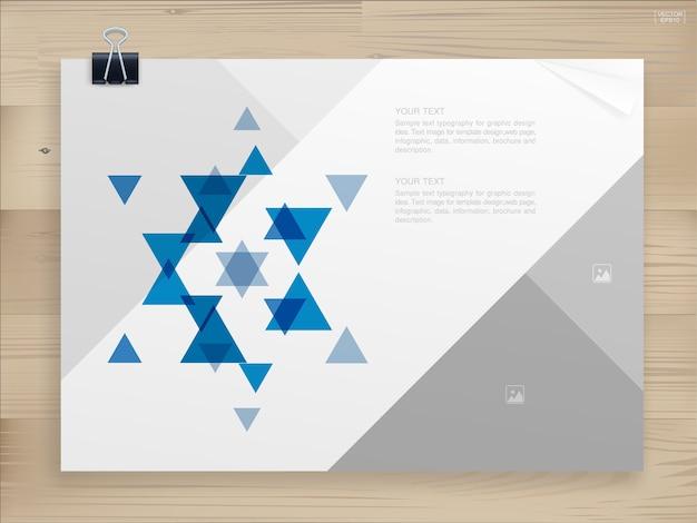 Livro fichário fundo para o modelo de design.