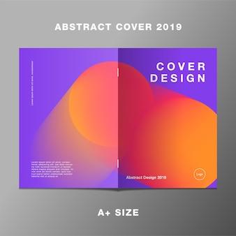 Livro laranja roxo gradiente geomatric relatório capa 2019