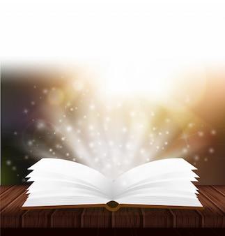 Livro mágico aberto