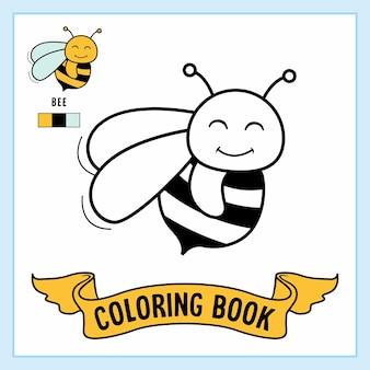 Livro para colorir animais de abelha