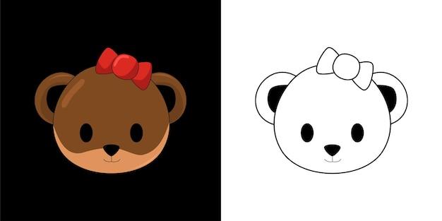 Livro para colorir com urso objeto de natal