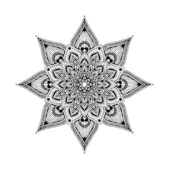 Livro para colorir das mandalas, terapia oriental, vetor dos logotipos da ioga.