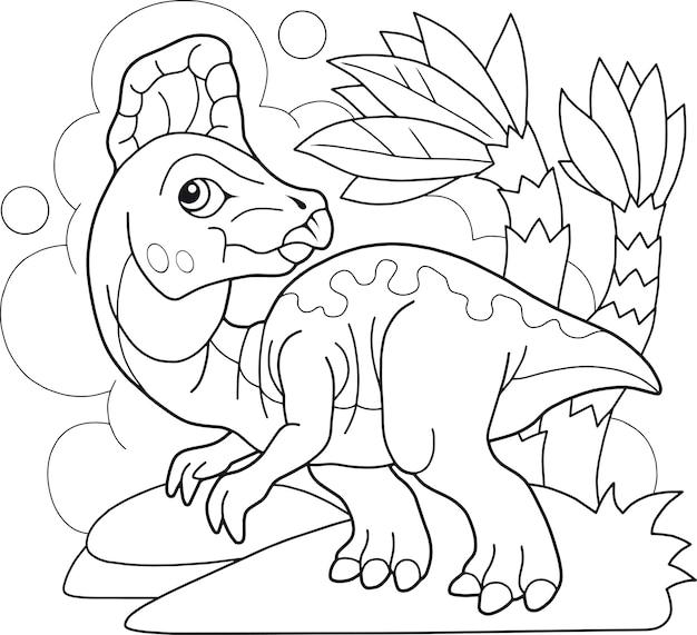 Livro para colorir de dinossauros