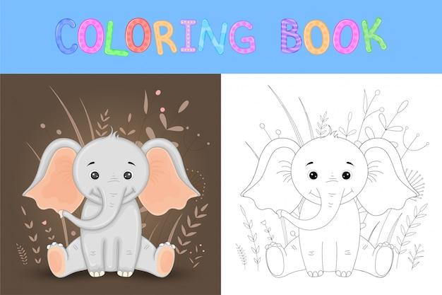 Livro para colorir ou página para crianças da escola